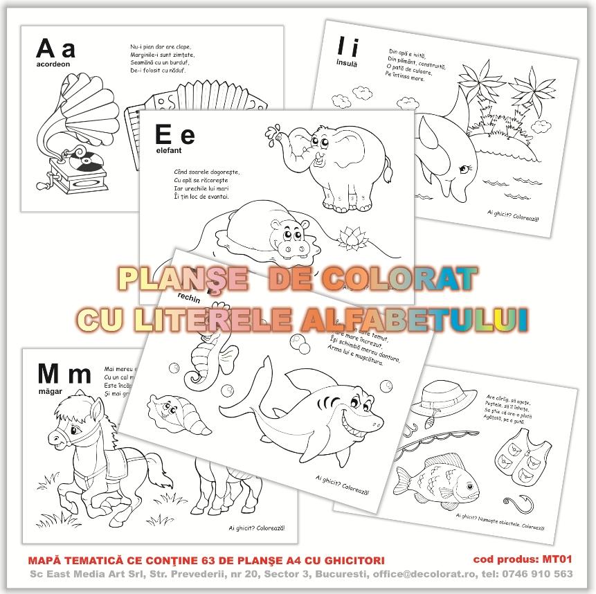 Planse Si Desene De Colorat Alfabetul Alfabet Pentru Copii