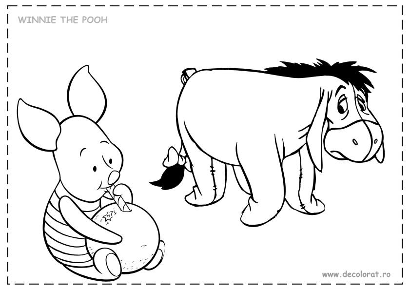 Desene De Colorat Cu Winnie Pooh Planse Si Imagini De Colorat