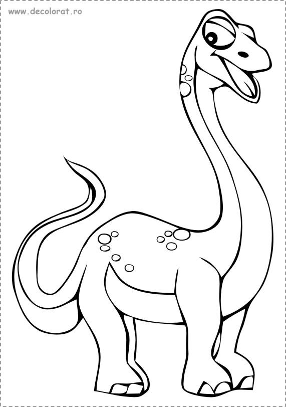 Planse De Colorat Dinozauri Desene De Colorat Mamuti