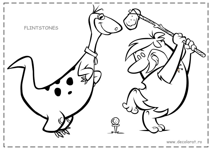 dino from flintstones coloring pages - photo#6
