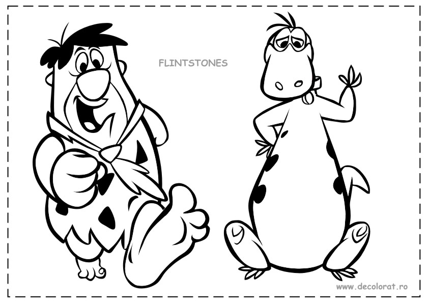 pebbles and bambam coloring pages - photo#32