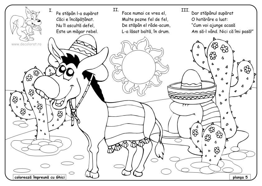 Planse De Colorat Animale Domestice Desene De Colorat